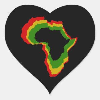 """Africa - Pan African Colors"" [a] Heart Sticker"