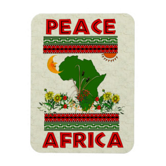 Africa Peace Vinyl Magnets