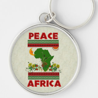 Africa Peace Key Chains
