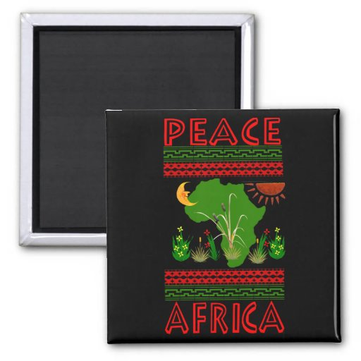 Africa Peace Fridge Magnets