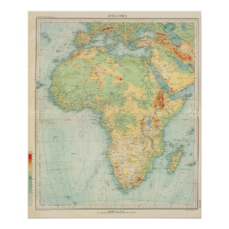 Africa Physical 10506 Poster