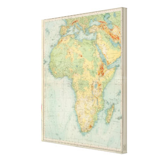 Africa Physical 10506 Stretched Canvas Prints