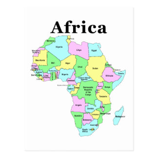 Africa - Political Map Postcards