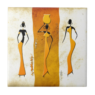 Africa retro vintage style gifts 17 small square tile