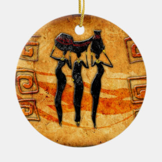 Africa retro vintage style gifts 36 ceramic ornament
