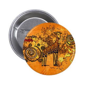 Africa retro vintage style gifts 6 cm round badge