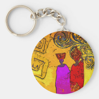 Africa retro vintage style gifts basic round button key ring