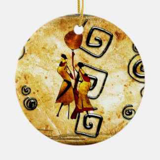Africa retro vintage style gifts ceramic ornament