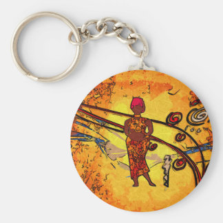 Africa retro vintage style gifts keychain