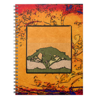 Africa retro vintage style gifts notebooks