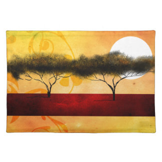 Africa retro vintage style gifts placemat