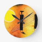 Africa retro vintage style gifts round clock