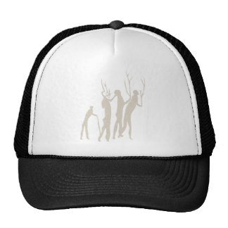 Africa rock painting humans africa cave kind peopl hat