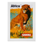 Africa ~ Sabena Posters