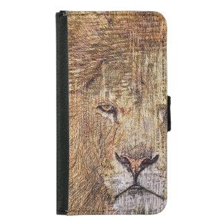 Africa safari animal wildlife majestic lion samsung galaxy s5 wallet case