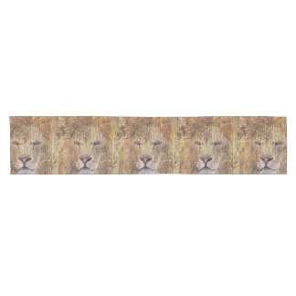Africa safari animal wildlife majestic lion short table runner