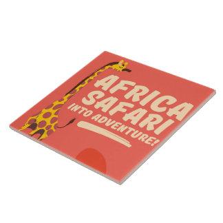 Africa Safari Into Adventure! Ceramic Tile