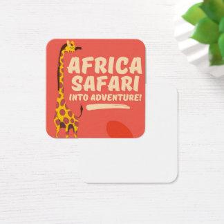 Africa Safari Into Adventure! Square Business Card