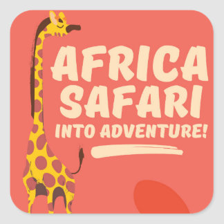 Africa Safari Into Adventure! Square Sticker