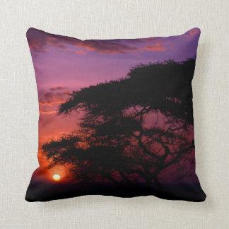 AFRICA: Serengeti Sunset decorative pillow