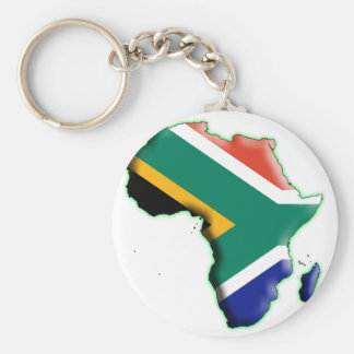 AFRICA: SOUTH AFRICA BASIC ROUND BUTTON KEY RING
