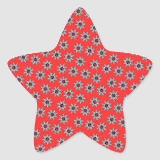 Africa Stars Modern Pattern Star Sticker