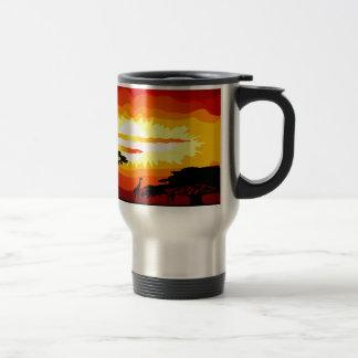 Africa sunset mug