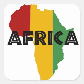 Africa take a rest cokes square sticker