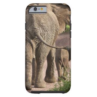 Africa. Tanzania. Elephant mother and calf at Tough iPhone 6 Case