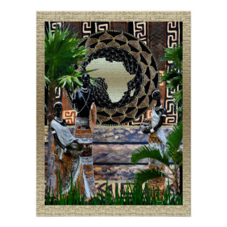 Africa the Garden of Eden Poster