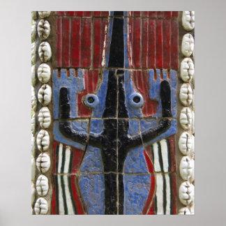 Africa, Togo, Kpalime. Artisan handicraft center Poster