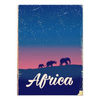 Africa Vintage elephants travel poster