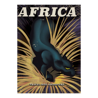 Africa vintage travel poster print