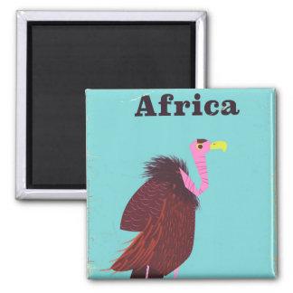 Africa Vulture vintage air travel poster Magnet