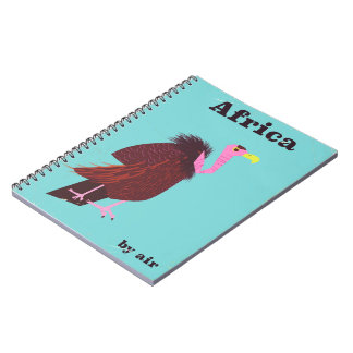 Africa Vulture vintage air travel poster Notebooks