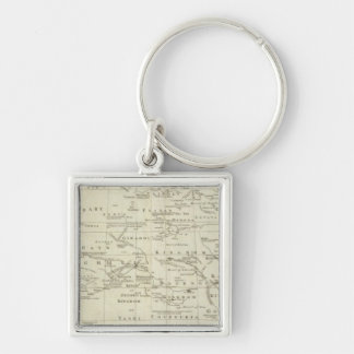 Africa, with all its kingdoms and states Silver-Colored square key ring