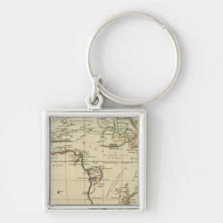 Africa with boundaries outlined key chain