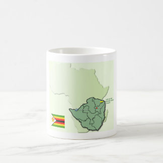 Africa Zimbabwe Flag map mug