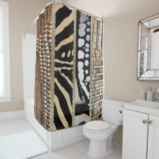 African Abstract Jungle  Tribal Graphic Shower Curtain