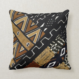African Abstract Pattern Throw Pillow