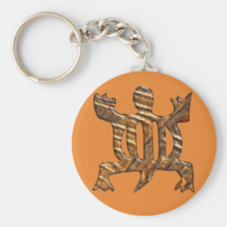 African Adinkra simbol of adaptability. Basic Round Button Key Ring
