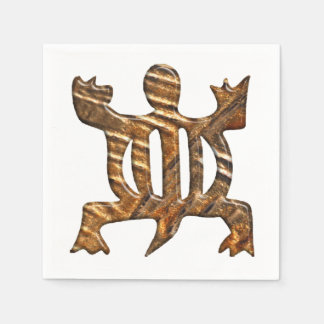 African Adinkra simbol of adaptability. Disposable Napkins