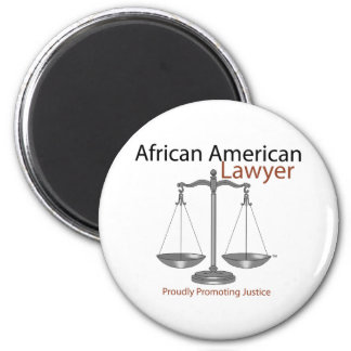 African America Lawyer Fridge Magnets