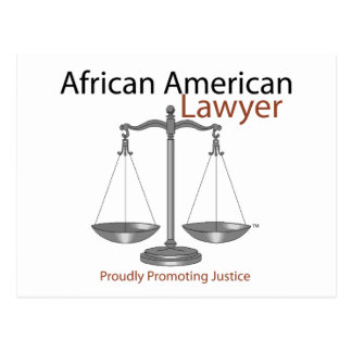 African America Lawyer Postcard
