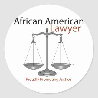 African America Lawyer Round Sticker
