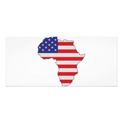 African American Africa United States Flag Rack Card Design
