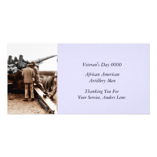 African American Artillerymen WWII Photo Greeting Card