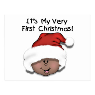 African American Baby 1st Christmas Postcards