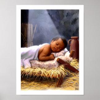 African American Baby Jesus Painting Art Print