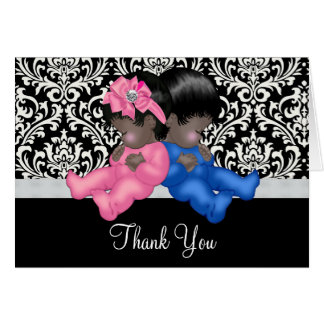African American Baby Shower Thank You Card